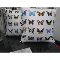set de cojin estampado mariposa