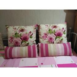 Set de cojines estampados florales